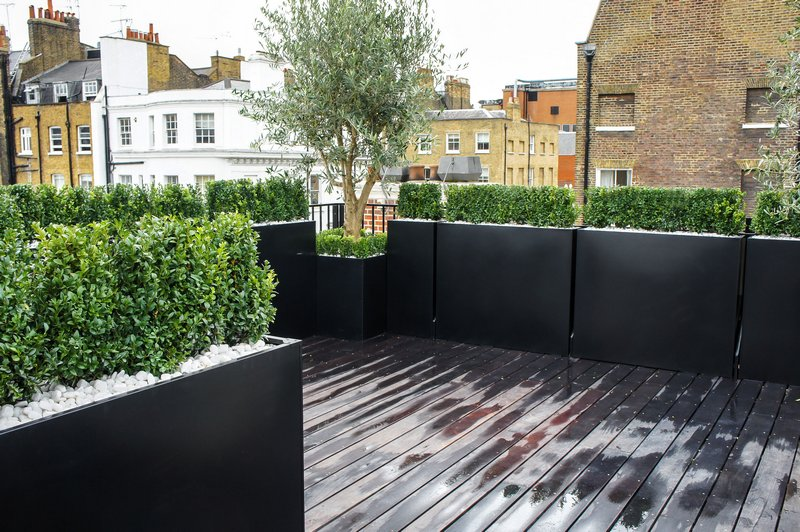 Tessalating rectangular planters