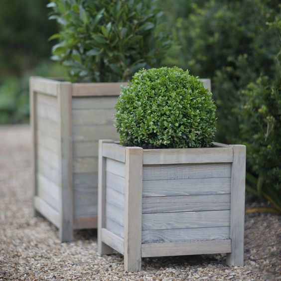 Wooden rustic planters