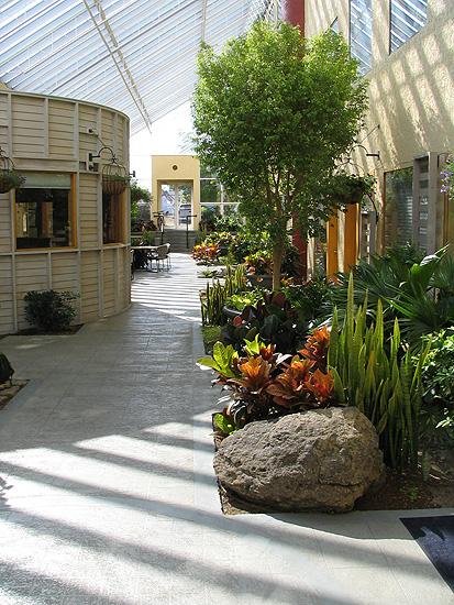 interior landscape design along walk way
