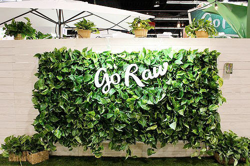 vertical garden with logo inset