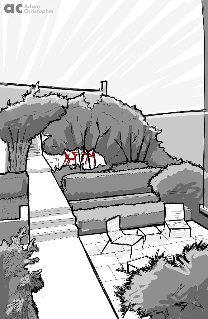 foras contemporary garden Sketch logo