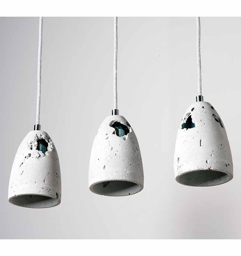 Volcano concrete lamp by living concrete