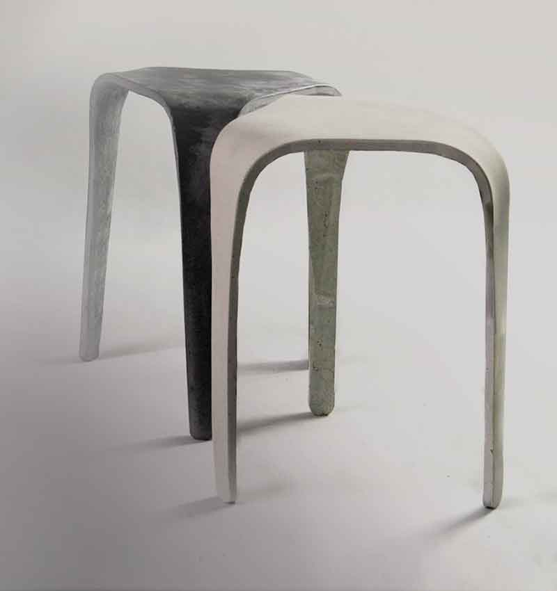 concrete stool by living concrete