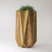 geometric large modern planter in fibre concrete