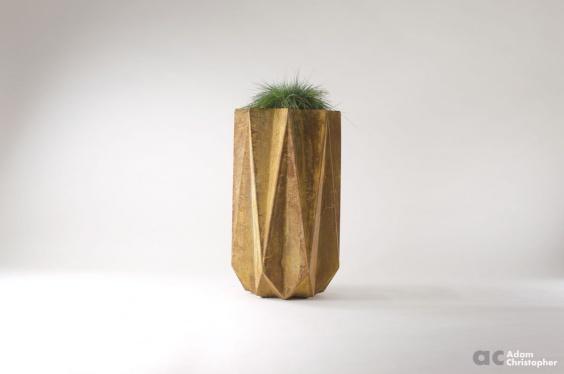 fibre concrete modern planter 1 metre tall