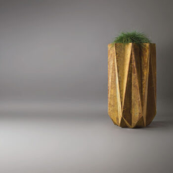 rusty looking contemporary designer planter
