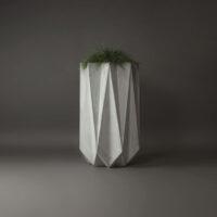 tall fibre concrete planter 1 metre in height