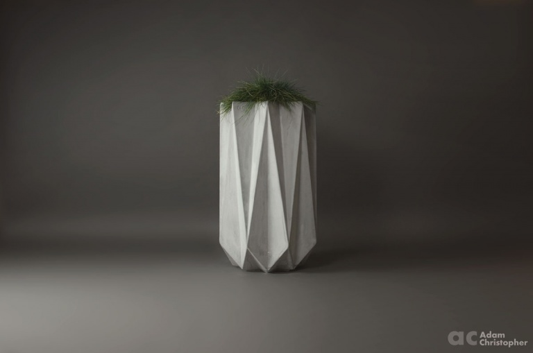 tall fibre concrete planter 1 metre in height