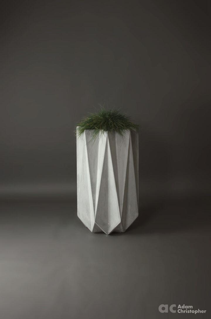 designer modern concrete planter 90 cm tall