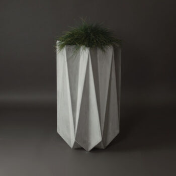 tall contemporary concrete planter