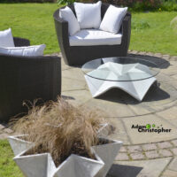 Stjerne Glass and Concrete Coffee Table