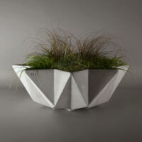 large planter, 1 metre bowl for a low feature planter made from concrete