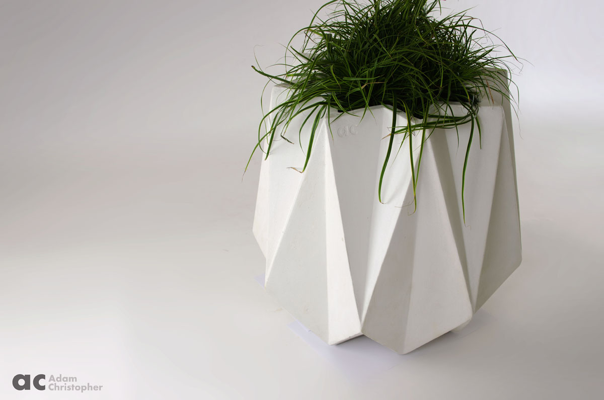 Kronen 65 Flower Pot White Concrete 74 X 74 X 66cm
