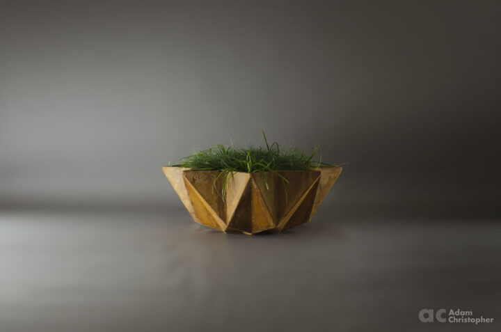 large corten steel effect bowl planter