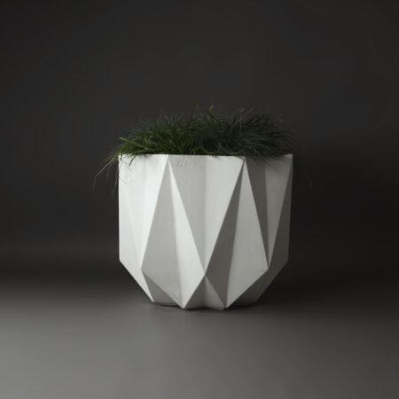 big geometric concrete planter
