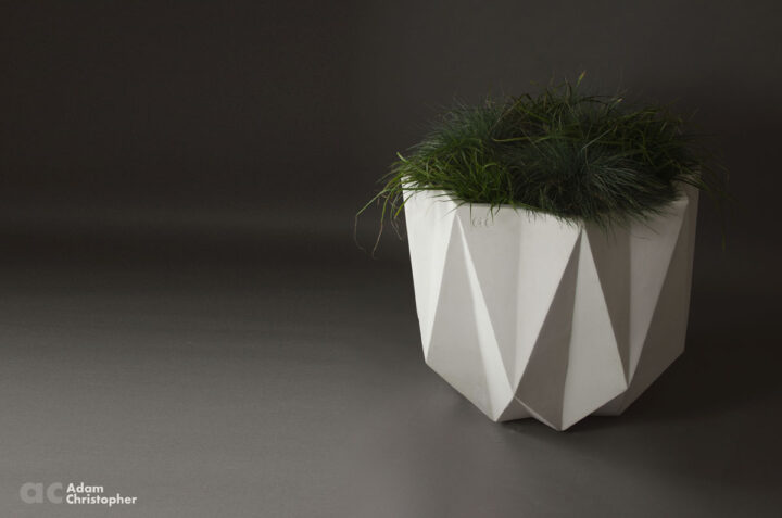 large white concrete planter for commercial spaces