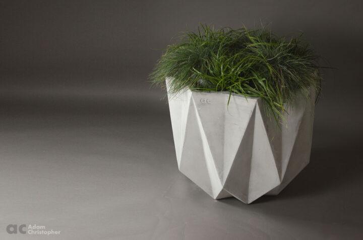 large modern concrete planter