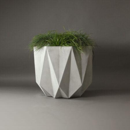 geometric concrete planter makes a nice modern design