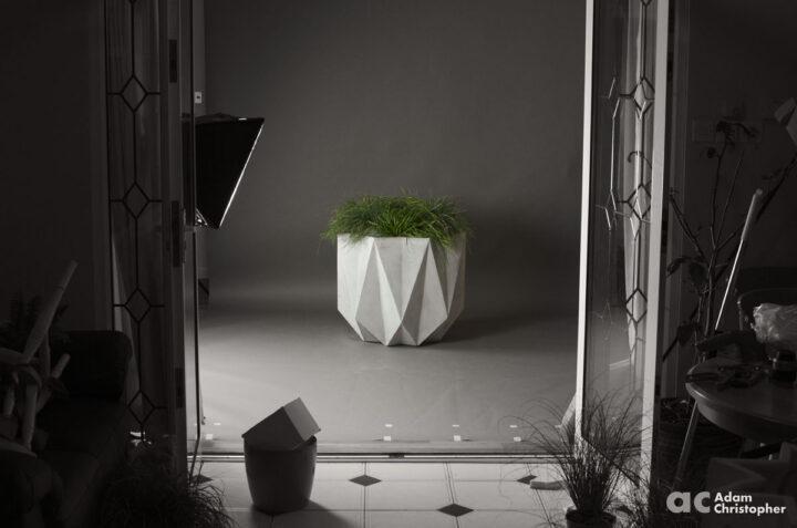 large geometric planter