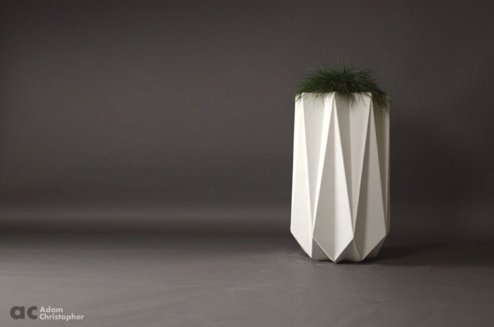 tall commercial outdoor concrete planter