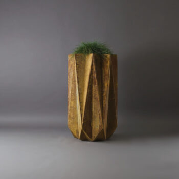 corten steel effect modern planter