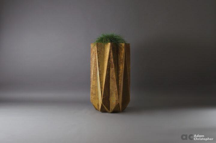 corten steel effect modern planter